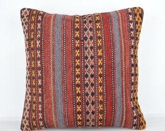 Handmade Wool Pillow Cover, Bohemian Pillow, Kilim pillow, Kilim Pillow Cover nkp112, Turkish Pillow, Bohemian Decor, Moroccan Pillow, Kilim