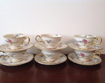 6 Castleton Sunnyvale Cup and Saucer Sets, buy 1 or all, Excellent Condition