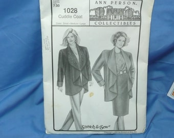 Ann Pearson Collectables 1028 Cuddle Coat, Sm , Med , Lg