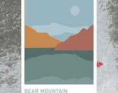 Bear Mountain - The Hudson Valley - Art Print Travel Poster