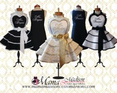 Custom Listing For Jordan...Mr. and Mrs. Custom Bridal Aprons...Perfect Bridal Shower Gift, Available In Black Or White