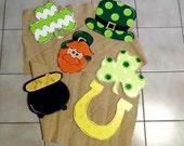 St Patricks Day Door Hanger, St Patricks Day Door Set, Wreath Supplies, Shamrock Door Hanger, Wreath Accessories, Garland Accessories