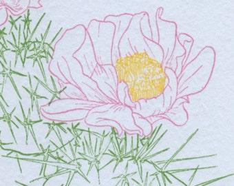 Blooming Cactus Letterpress Card