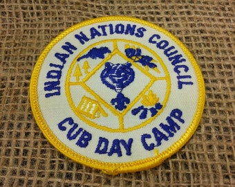 Vintage Boy Scout Patch Indian Nations Council CUB DAY CAMP