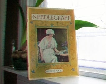 1919 Needlecraft Magazine September Issue with Great Cream Of Wheat Ad Vintage 1910s Sewing