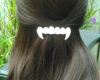 Vampire fangs french barrette