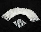 """Free Shipping 20 Pcs. Square White Plastic Drainage Mesh ( Screen )For Bonsai Pot - 1.5""""x1.5"""""""