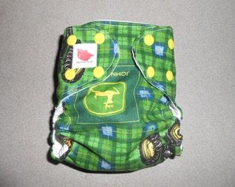 Sized John Deere Pocket Diaper