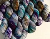 sparkle {sock} | DRAGONFLY | ready to ship | hand dyed yarn | merino nylon stellina