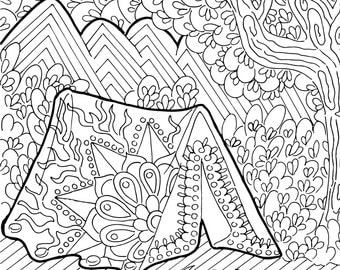 Printable Coloring Page Zentangle Figure Skating Coloring Book