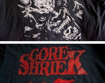 1990 Gore Shriek shirt - Vintage Fangoria Demon tshirt - Fantaco Screen Stars horror tee