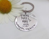 Keychains - Camper Gifts - RV gifts - Vacation keychains - Summer gift keychains - Home sweet home - Resort gifts - camping gifts