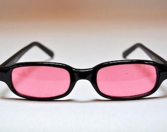 Vintage Firefly Rose Gradient Lenses Small Square Sunglasses
