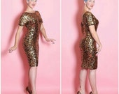 Volup size 1950s Leopard Sweater dress (M to XL)