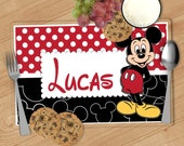 Mickey Mouse Kids Personalized Placemat, Customized Placemats for kids, Kids Placemat, Personalized Kids Gift