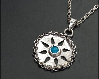 Arizona sun - Sterling silver necklace with arizona turquoise