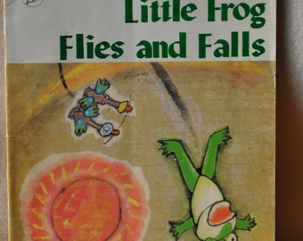Little Frog Flies and Falls - 1986 First Edition Chinese Fairy Tale - Foreign Language Press - Tale of Jealousy - Vintage Chinese Tale