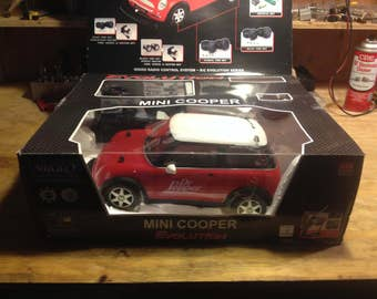 Nikko Mini Cooper Dr Pepper Radio Controlled Car - mint in box never used - great collectible
