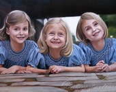 Custom Portrait - Oil Painting - Sisters - Family Portrait - Gift for the Family -12x16
