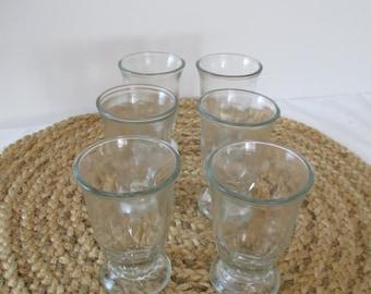 Vintage Shrimp Cocktail Glasses - Set of Six