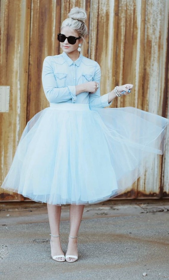 baby blue tulle skirt tutu skirtadult tutu light blue