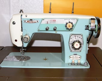 Modern Super DeLuxe Zig Zag Sewing Machine - Model 139 - w/ Sewing Cabinet - Vintage 1960s