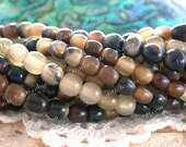 5/6mm Natural Horn Beads, Recycled Horn Beads, Natural Beads, Hand Crafted Undyed Horn Beads NAT-252