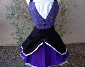 Haunted Mansion Wallpaper apron dress