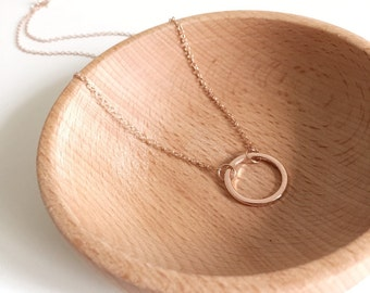 Eternal Circle in Rose Gold Necklace