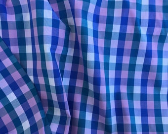 Japanese Cotton Plaid Shirting - Orchid