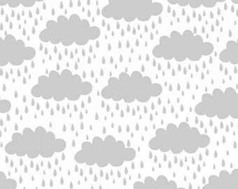 3 Wishes Fabric - Savannah - Clouds White