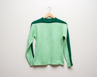 Aspen Mint Green Wool Ski Sweater