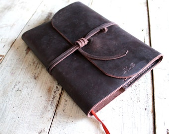 Refillable leather Journal. A5 refillable journal. Leather Book Cover. Refillable Book Cover. Free Personalisation