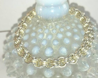 Chainmaille Bracelet 925 Sterling Silver