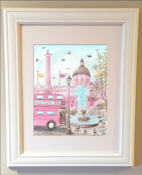 Travel Themed Nursery Nursery Wall Art Trafalgar Square