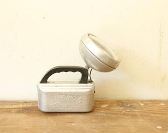 Vintage Flashlight Old VolKano Metal 6 Volt Aluminum Lantern Industrial Display
