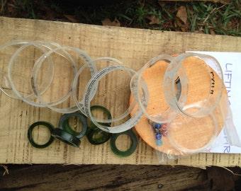 GLASS DIY WINDCHIME kits, mini windchime kits, mobile, eco friendly and green, wind chimes, do it yourself kits, kits,
