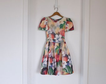 floral watercolour dress tea party dress