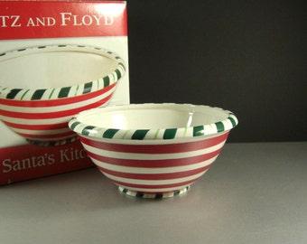 Fitz and Floyd Santa's Kitchen Christmas Serving Bowl