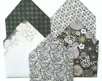 Handmade Enevlopes - B&W CLASSY SET
