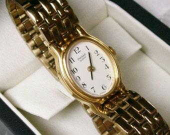 Pulsar Quartz Wrist Watch Quality Ladies Classic 1980s Working Time Piece