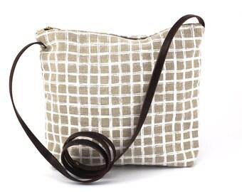 Sling Bag - White Grid