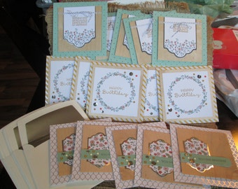 COTTAGE GREETINGS Card Kit - Stampin Up Retired