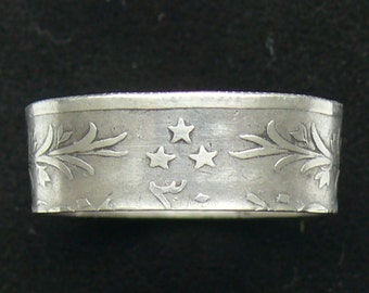 Very Rare Silver Coin Ring 1895 Egypt 20 Qirsh, Ring Size 9 and Double Sided