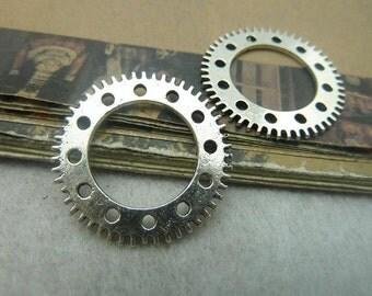 10pcs 25mm antique silver  watch gear charms pendant C5999