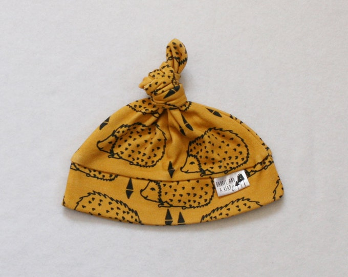 Hedgehog Knotted Baby Hat