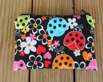 Reusable ZIPPER Snack Bag, Ladybug - Zipper Snack Bag