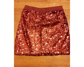 SALE Red/Pink Sequin Short Skirt - Size XS/Small (2 for 15 dollars deal)