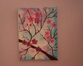 Acrylic Flowers Painting