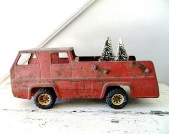 Vintage Red Firetruck Tonka Truck
